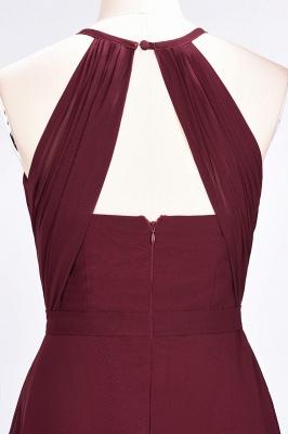 A-Line Jewel Sleeveless Floor-Length  Bridesmaid Dress with Ruffles_6