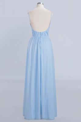 A-Line  V-Neck Spaghetti Straps Floor-Length Bridesmaid Dresses_2