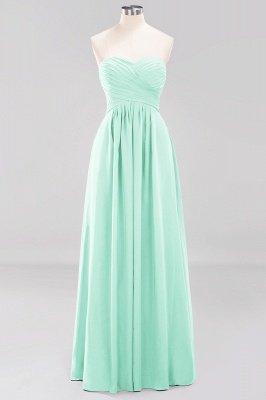 A-line  Sweetheart Strapless Ruffles Floor-length Bridesmaid Dress_34