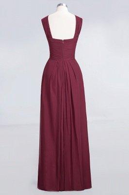 A-Line V-Neck Straps Sleeveless Floor-Length  Bridesmaid Dress with Ruffles_2