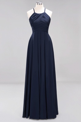 A-Line  Halter Ruffles Floor-Length Bridesmaid Dress_27