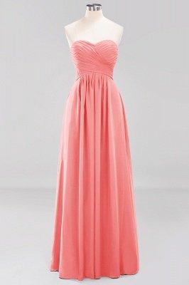 A-line  Sweetheart Strapless Ruffles Floor-length Bridesmaid Dress_7