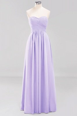 A-line  Sweetheart Strapless Ruffles Floor-length Bridesmaid Dress_20