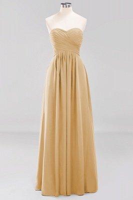 A-line  Sweetheart Strapless Ruffles Floor-length Bridesmaid Dress_13