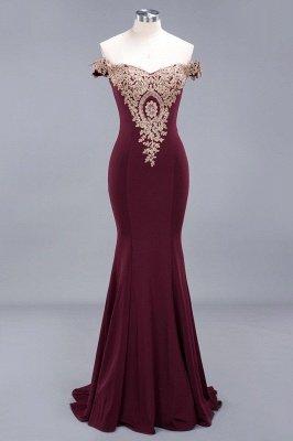 Charming Off-The-Shoulder Floor-Length  Mermaid Appliques Zipper Prom Dress_2