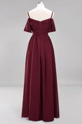 A-Line  V-Neck Spaghetti Straps Short-Sleeves Floor-Length Bridesmaid Dresses with Ruffles_10
