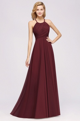 A-Line  Halter Ruffles Floor-Length Bridesmaid Dress_35