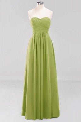 A-line  Sweetheart Strapless Ruffles Floor-length Bridesmaid Dress_32
