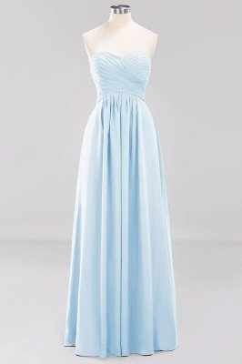 A-line  Sweetheart Strapless Ruffles Floor-length Bridesmaid Dress_22