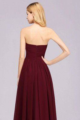 A-line  Sweetheart Strapless Ruffles Floor-length Bridesmaid Dress_42