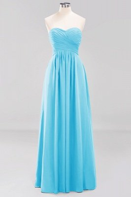 A-line  Sweetheart Strapless Ruffles Floor-length Bridesmaid Dress_23