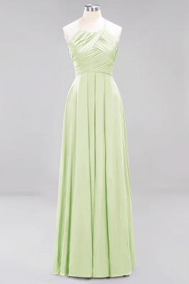 A-Line  Halter Ruffles Floor-Length Bridesmaid Dress_33