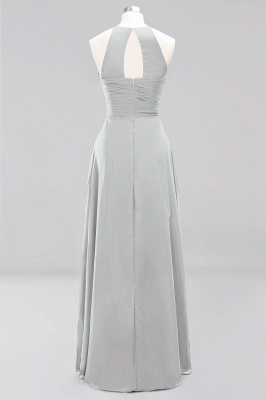 A-Line  Halter Ruffles Floor-Length Bridesmaid Dress_29