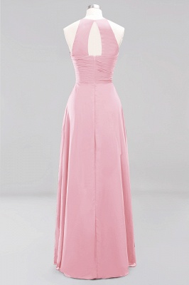 A-Line  Halter Ruffles Floor-Length Bridesmaid Dress_4