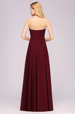A-line  Sweetheart Strapless Ruffles Floor-length Bridesmaid Dress_36