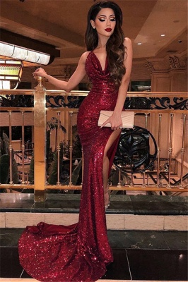 Charming Halter Sleeveless Front Slipt Floor-Length Prom Dress