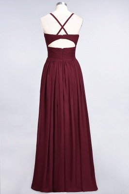 A-Line Spaghetti-Straps V-Neck Sleeveless Floor-Length  Bridesmaid Dress with Ruffles_36