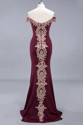 Charming Off-The-Shoulder Floor-Length  Mermaid Appliques Zipper Prom Dress_5