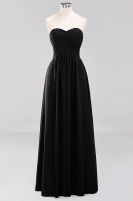 A-line  Sweetheart Strapless Ruffles Floor-length Bridesmaid Dress_28