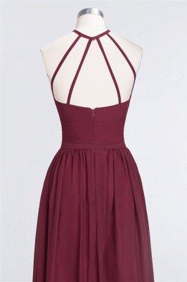 A-Line Halter Sleeveless Floor-Length  Bridesmaid Dress with Ruffles_6