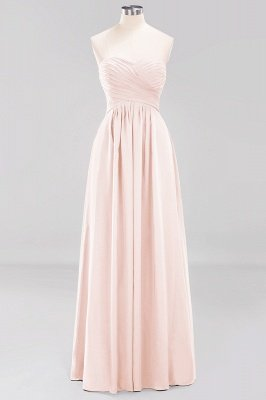 A-line  Sweetheart Strapless Ruffles Floor-length Bridesmaid Dress_5