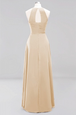 A-Line  Halter Ruffles Floor-Length Bridesmaid Dress_14