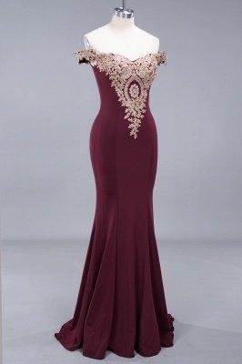 Charming Off-The-Shoulder Floor-Length  Mermaid Appliques Zipper Prom Dress_4