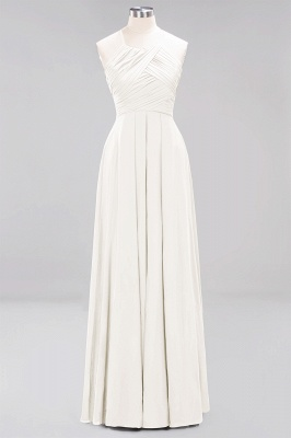 A-Line  Halter Ruffles Floor-Length Bridesmaid Dress_2