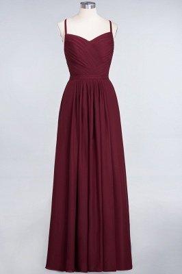 A-Line Spaghetti-Straps Sweetheart Sleeveless Floor-Length  Bridesmaid Dress with Ruffles_1