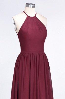A-Line Halter Sleeveless Floor-Length  Bridesmaid Dress with Ruffles_5