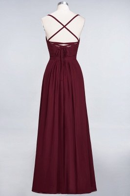 A-Line Spaghetti-Straps Sweetheart Sleeveless Floor-Length  Bridesmaid Dress with Ruffles_2