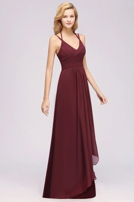 A-line  Spaghetti Straps Sleeveless Ruffles Floor-Length Bridesmaid Dresses_24