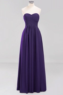 A-line  Sweetheart Strapless Ruffles Floor-length Bridesmaid Dress_18