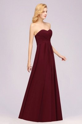 A-line  Sweetheart Strapless Ruffles Floor-length Bridesmaid Dress_38