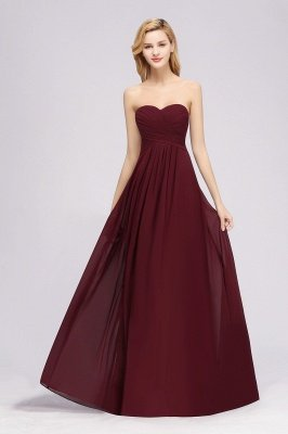 A-line  Sweetheart Strapless Ruffles Floor-length Bridesmaid Dress_37