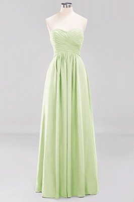 A-line  Sweetheart Strapless Ruffles Floor-length Bridesmaid Dress_33