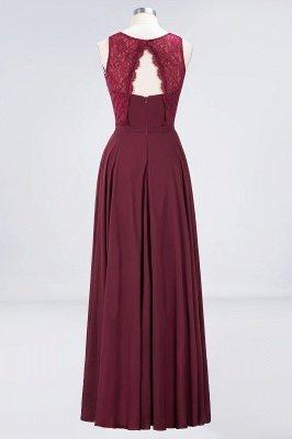 A-Line Jewel Sleeveless Hollowout Floor-Length  Lace Bridesmaid Dress_2