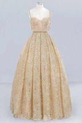 Elegant Ball Gown Spaghetti-Straps Sweetheart Sleeveless Floor-Length Tulle Lace Wedding Dress
