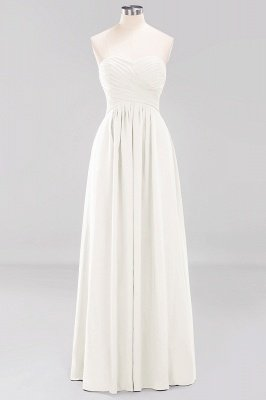 A-line  Sweetheart Strapless Ruffles Floor-length Bridesmaid Dress_2