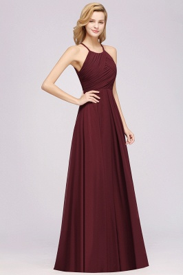 A-Line  Halter Ruffles Floor-Length Bridesmaid Dress_37