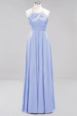 A-Line  Halter Ruffles Floor-Length Bridesmaid Dress_21