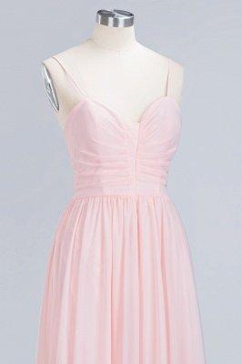 Pink Chiffon Simple Floor-length Sleeveless A-line Spaghetti-Strap Zipper Bridesmaid Dress_12