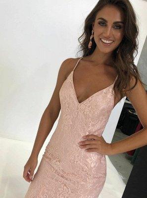 Charming Spaghetti Straps Sleeveless V-Neck Backless Appliques Prom Dress_1