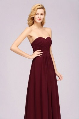 A-line  Sweetheart Strapless Ruffles Floor-length Bridesmaid Dress_6
