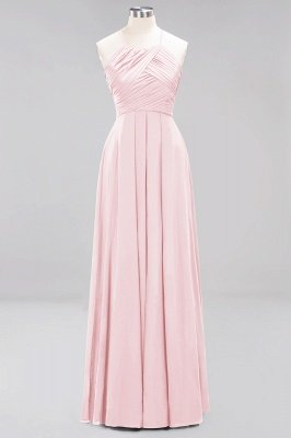 A-Line  Halter Ruffles Floor-Length Bridesmaid Dress_3