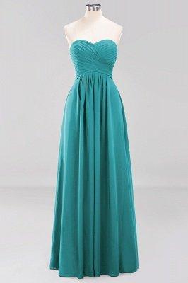 A-line  Sweetheart Strapless Ruffles Floor-length Bridesmaid Dress_31