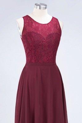 A-Line Jewel Sleeveless Hollowout Floor-Length  Lace Bridesmaid Dress_5