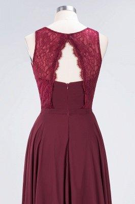 A-Line Jewel Sleeveless Hollowout Floor-Length  Lace Bridesmaid Dress_6