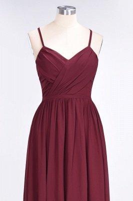A-Line Spaghetti-Straps V-Neck Sleeveless Floor-Length  Bridesmaid Dress with Ruffles_4