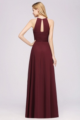 A-Line  Halter Ruffles Floor-Length Bridesmaid Dress_36